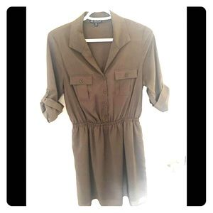 Olive Green Shirt Dress Size M